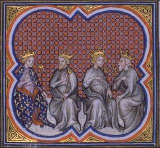 Partage du royaume entre les fils de Clovis 2
