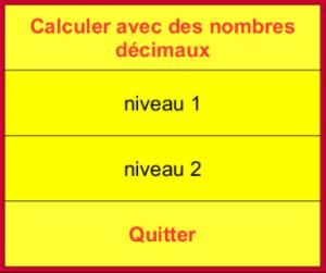 Opérations sur les décimaux - JClic