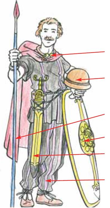 dessin coloroier guerrier gaulois