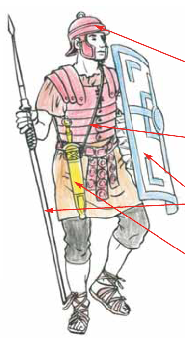 dessin colorier soldat romain