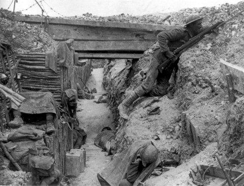 Tranchée sur la Somme