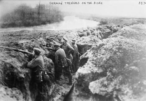 Tranchée allemande sur l'Aisne