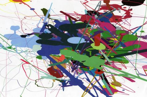 Mathieu, à la façon de Jackson Pollock