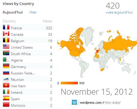 Stats et géolocalisation visiteurs Webclasse 15/11/12