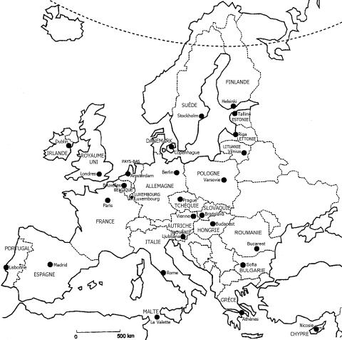 Union Européenne 27 pays fin 2007 manque Croatie