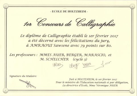 concours calligraphie